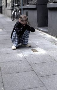 child-kneeling