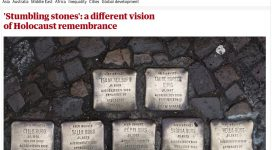 The Guardian on the Stolpersteine